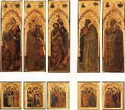 GIOVANNI DA MILANO The Ognissanti Polyptych:SS.Catherine and Lucy,Stephen and Laurence,john the Baptist and Luke,Peter and Benedict,james the Greater and Gregory oil painting picture wholesale