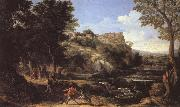 Gaspard Dughet Landscape with a Dancing Faun oil painting
