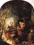 Gerrit Dou The Fritter Seller oil painting picture wholesale