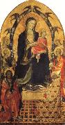 Gherardo Starnina Madonna and Child with SS.John the Baptist and Nicholas and Four Angels oil painting