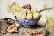 Giovanna Garzoni Chinese Cup with Figs,Cherries and Goldfinch oil painting