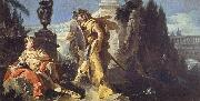 Giovanni Battista Tiepolo Rinaldo Sees Himself in Ubaldo's Shield oil painting picture wholesale