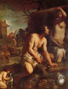 Guido Reni The Building of Noah's Ark oil painting reproduction