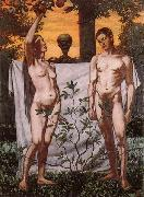 Hans Thoma Adam and Eve oil painting reproduction
