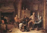 Hendrick Martensz Sorgh A tavern interior with peasants drinking and making music oil painting picture wholesale