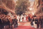 Henry Courtnay Selous The Opening Ceremony of the Great Exhibition,I May 1851 oil painting