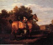 A Gentleman,Said to Be mr Richard Bendyshe with his Favorite Hunter in a Landscape