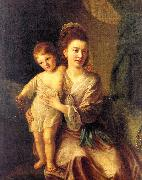 Hone, Nathaniel Anne Gardiner with her Eldest Son Kirkman oil painting