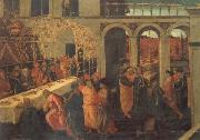 JACOPO del SELLAIO The Banquet of Ahasuerus oil painting