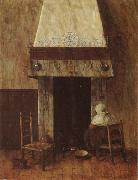Jacobus Vrel An Old Woman at he Fireplace oil painting