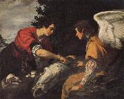 Jacopo Vignali Tobias and the Angel oil painting