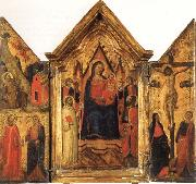 Madonna and Child Enthroned with SS.Bernard and John the Baptist and Four Angels