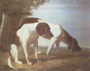 Jacques-Laurent Agasse Foxhounds in a Landscape oil painting