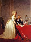 Jacques-Louis David Portrait of Monsieur Lavoisier and His Wife oil painting