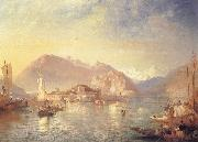 James Baker Pyne Isola Bella,Lago Maggiore oil painting