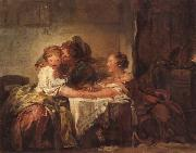 Jean Honore Fragonard A Kiss Won