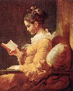 Jean Honore Fragonard A Young Girl Reading oil painting reproduction