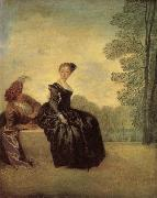Jean-Antoine Watteau A Capricious Woman oil painting picture wholesale
