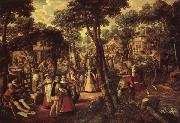Joachim Beuckelaer A Village Celebration oil painting picture wholesale