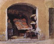 John William Waterhouse An Italian Produce Shop oil painting picture wholesale