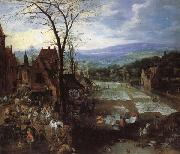 A Flemish Market and Washing-Place