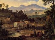 Joseph Anton Koch The Monastery of St.Francis in the Sabine Hills,Rome oil painting artist