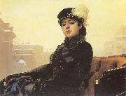 Kramskoy, Ivan Nikolaevich Portrait of a Woman oil painting reproduction