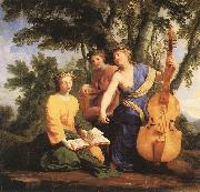 LE SUEUR, Eustache The Muses: Melpomene, Erato and Polymnia