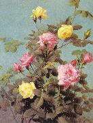 Lambdin, George Cochran Roses oil painting reproduction