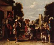 Lambert  Jacobsz The Prophet Elisha and Naaman oil painting picture wholesale