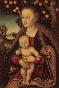 Lucas Cranach the Elder Madonna and Child Under an Apple Tree oil painting picture wholesale