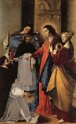 MAINO, Fray Juan Bautista The Virgin,with St.Mary Magdalen and St.Catherine,Appears to a Dominican Monk in Seriano oil painting