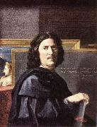 POUSSIN, Nicolas Self-Portrait oil painting reproduction