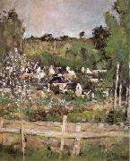 View of Auvers-sur-Oise-The Fence