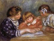Pierre Renoir The Lesson oil painting reproduction