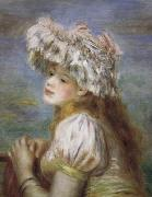 Pierre Renoir Young Girl in a Lace Hat