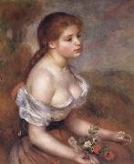 Young Girl with Daisies