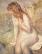 Bather on A Rock