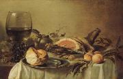 Pieter Claesz Breakfast with Ham