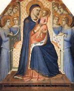 Madonna and Child Enthroned with Eight Angels