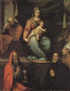 Prado, Blas del The Holy Family,with SS.Ildefonsus and john the Evangelist,and the Master Alonso de Villegas oil painting picture wholesale