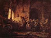 REMBRANDT Harmenszoon van Rijn The Parable of the Laborers in the Vineard oil painting picture wholesale