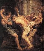 RUBENS, Pieter Pauwel The Flagellation of Christ oil painting reproduction