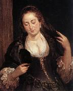 RUBENS, Pieter Pauwel Woman with a Mirror oil painting reproduction