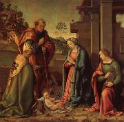 Raffaello Botticini Adoration of the Christ Child with St.Barbara and St.Martin oil painting picture wholesale