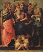 Madonna Enthroned with SS.John the Baptist,Anthony Abbot,Stephen,and Benedict