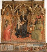 Madonna and Child Enthroned with Four Angels and SS.John the Baptist,Peter,Francis,and Paul