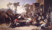 Sir David Wilkie Chelsea Pensioners Reading the Gazette of the Battle of Waterloo oil painting picture wholesale