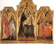 Madonna and Child Enthroned with SS.Paulinus,john the Baptist,Andrew,and Matthew