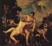 Titian Venus and Adonis oil painting reproduction